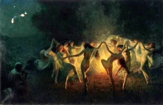 Nymphs Dancing To Pan's Flute
