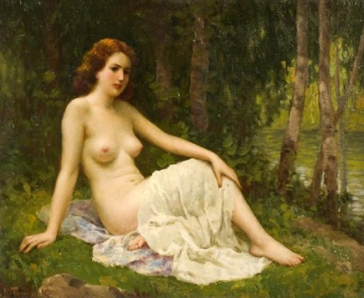 Reclining Nude In A Forest