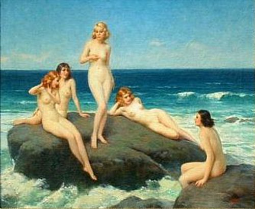 Sirens - Nudes Sitting On A Rock