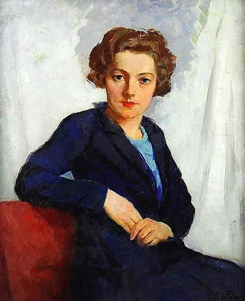 Woman In A Blue Suit