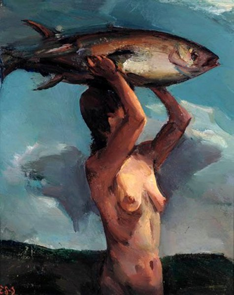 Woman With Fish