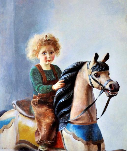 Ann Carol On The Rocking Horse