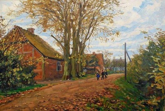 Children On A Village Road