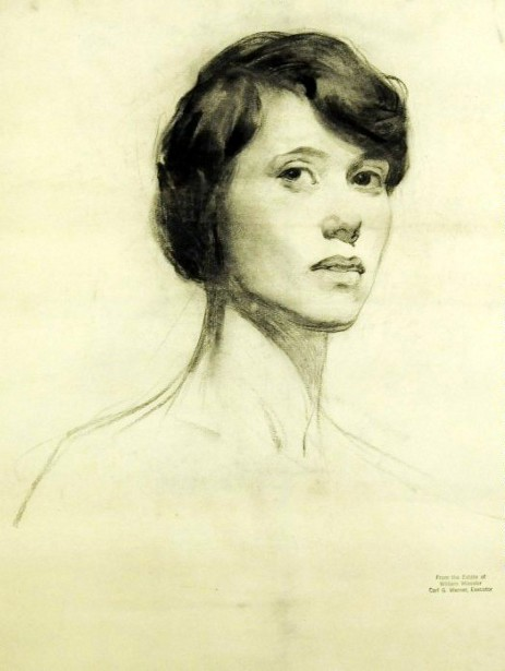 Head Of A Young Woman Looking To The Right
