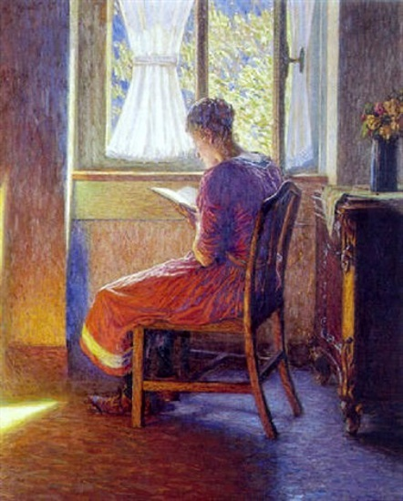 Interior With Reading Girl At The Window