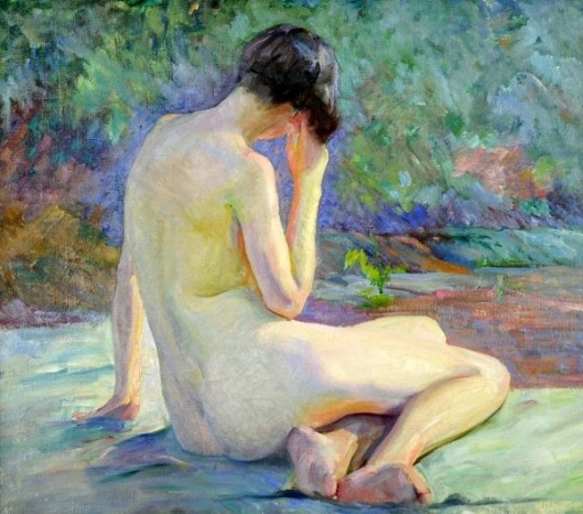 Seated Nude As Seen From Her Back