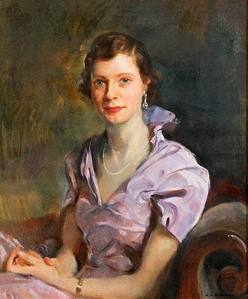 Woman Wearing A Lavender Dress