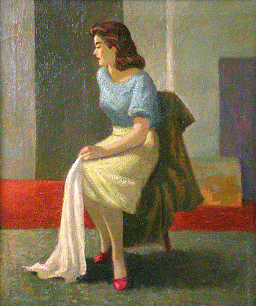 Girl With Blue And Yellow