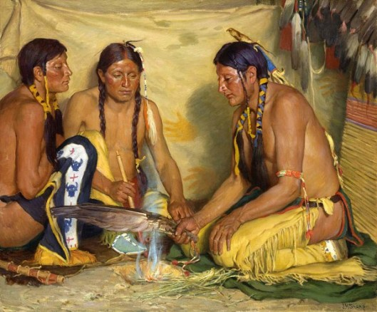Making Sweet Grass Medicine, Blackfoot Ceremony