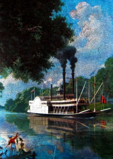 Sidewheeler Riverboat