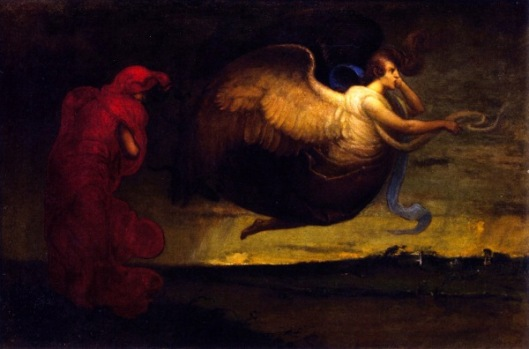 Angel And Figure In Red