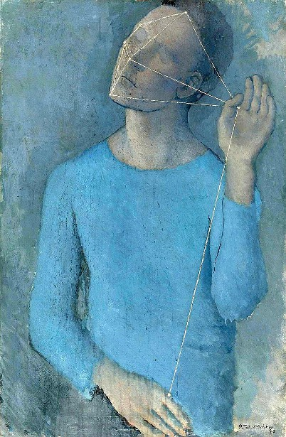 Blue Boy With String