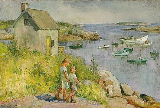 Children Along The Coast