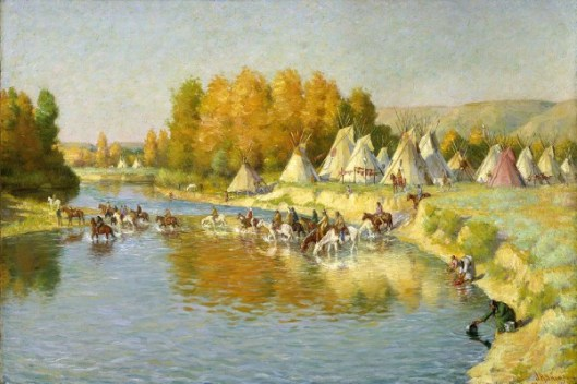 Encampment Of Crow Indians