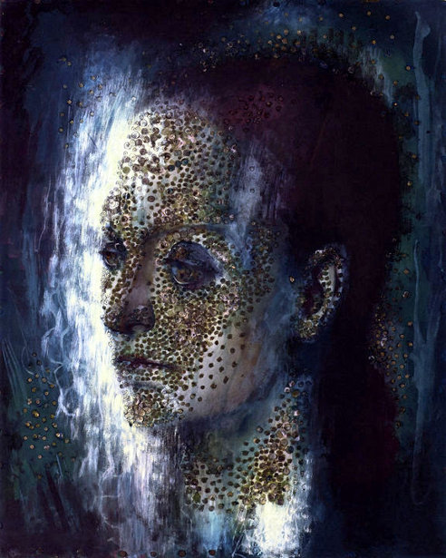 Head Of Helena Rubinstein Encrusted With Sequins