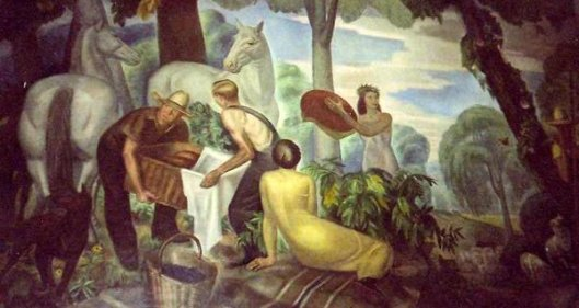 Huckleberry Frolic (Mural at Garden City Post Office, New York)