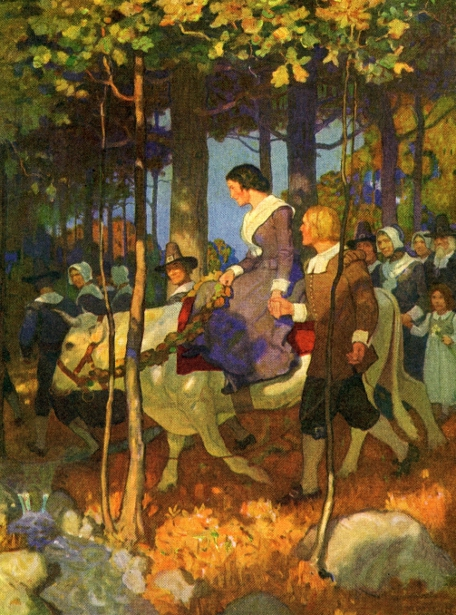 The Courtship Of Miles Standish 9 - bridal procession