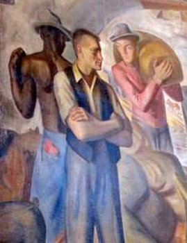 The Osceola, First Shipment Of Wheat From Chicago  (Mural at Oak Park Post Office)