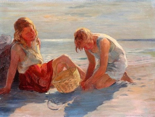 Two Girls On Beach