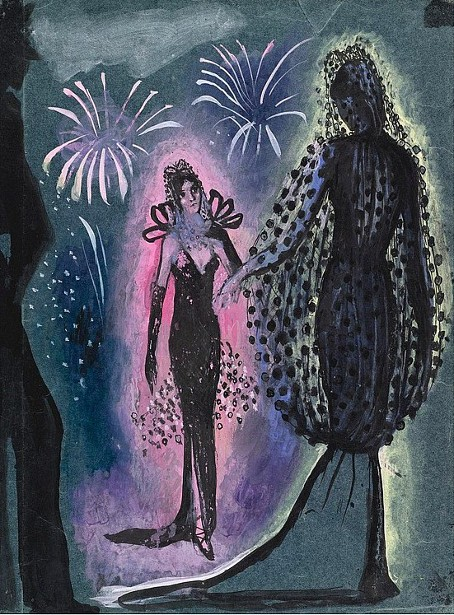 Two Women In Evening Gowns