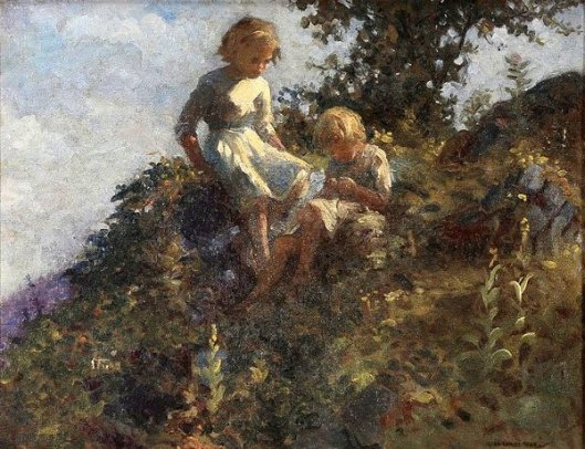 Young Girls On A Hill