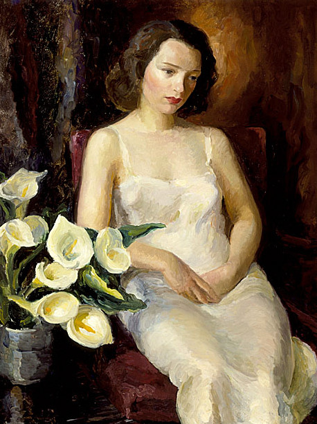 Arabella With Calla Lillies