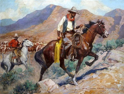 Cattle-Herding Cowboys