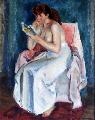 Girl In Chair Reading (Mary Lou Rekov)