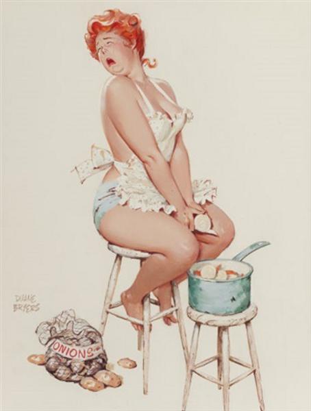 Hilda Peeling Onions