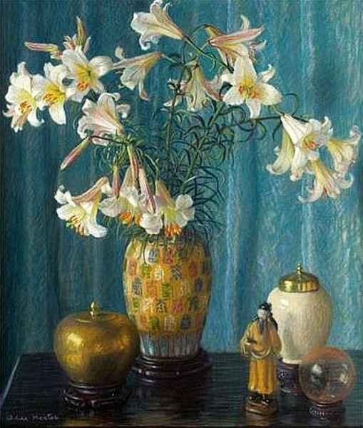 Lilies In A Chinese Vase