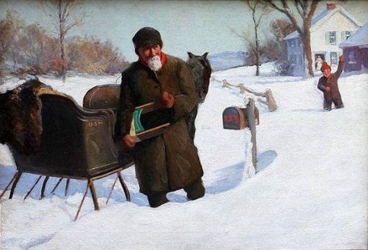 Mailman In The Snow