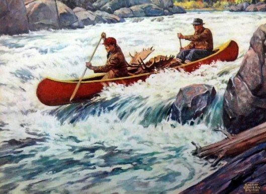 Men In Canoe