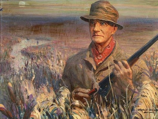 Portrait Of A Hunter - Leander Raymond Holding A Winchester Model 21