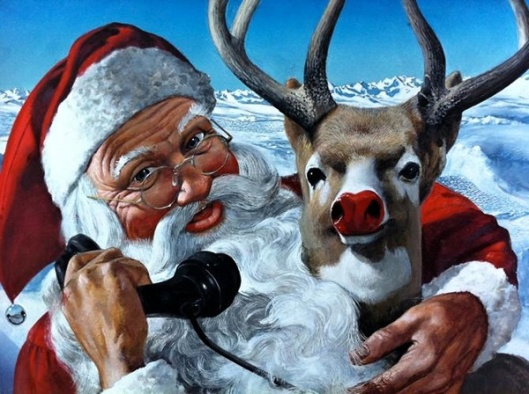 Santa And Rudolph