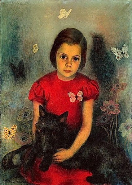 Young Girl With Butterflies