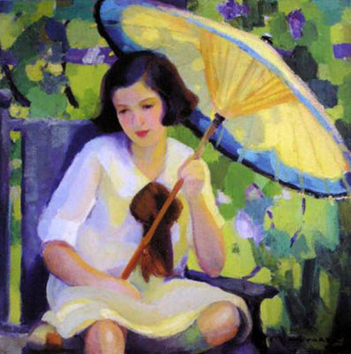 Young Girl With Parasol