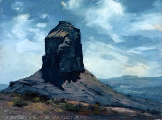 Butte In Blue, Monument Valley, Utah
