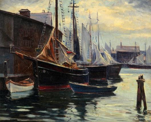 Gloucester Harbor Scene