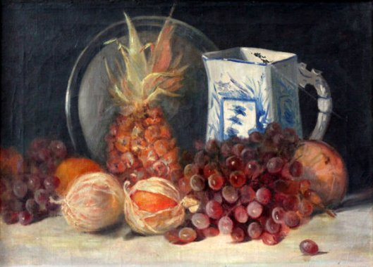 Still Life With Orange, Grape And Pineapple
