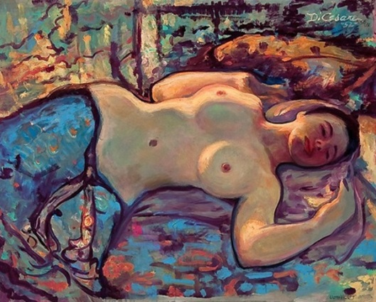Ultraviolet - A Reclining Female Nude