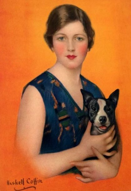 Flapper Girl With Dog