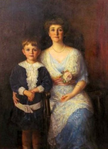 Mrs. Benjamin Lloyd Belt (née Ozite Fleming Cox) And Benjamin Lloyd Belt jr.
