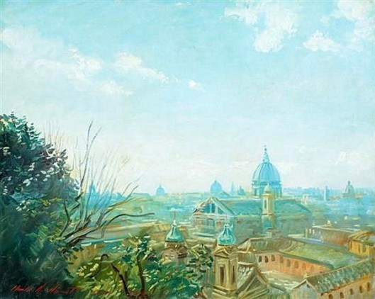 View Of Rome From The Borghese Gardens