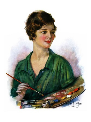 Woman Artist And Her Palette