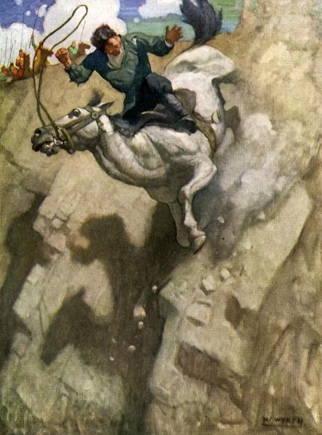 The horse of the kibitka fell dead