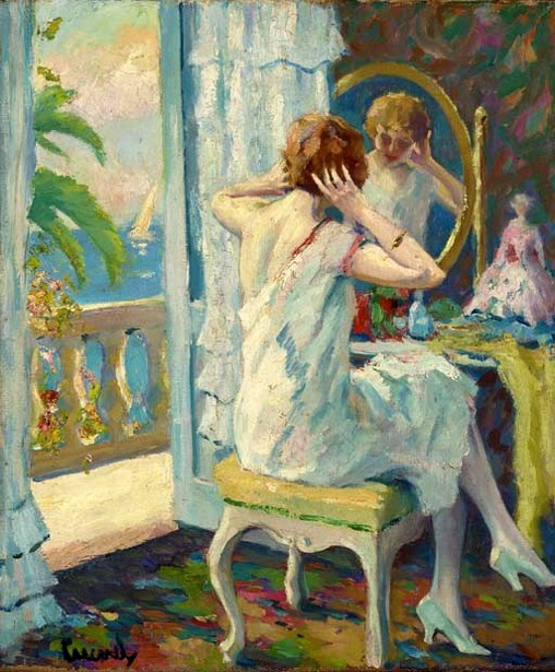 A Lady At Her Dressing Table, San Remo