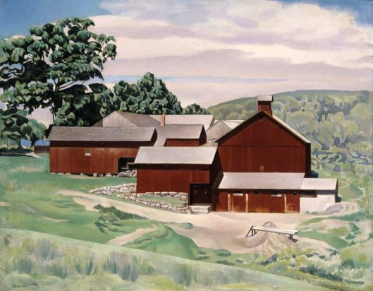 Connecticut Barns In Landscape