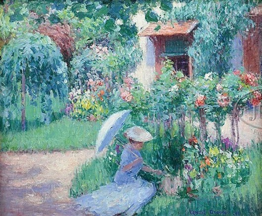 In A Giverny Garden