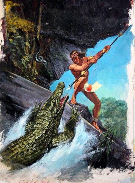 Jungle King vs. Crocodile