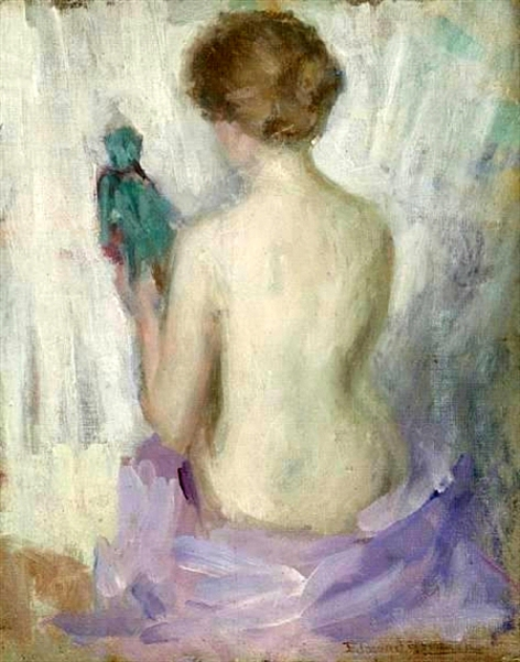 Nude Holding A Doll